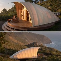 "ORG Autonomous Tent has been engineered as a permanent structure, yet can be raised in just a few days and ""leave without a trace."" Does not require a foundation or utilities. Education Architecture, Architecture Design, Tent Design, House Design, Luxury Tents, Dome House, Geodesic Dome, Cabana, Glamping"