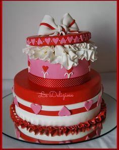 Valentine cake by LeDeliziose