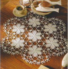 Mix of crochet & tatting? Crochet Dollies, Crochet Wool, Thread Crochet, Filet Crochet, Crochet Motif, Diy Crochet, Crochet Flowers, Crochet Stitches, Crochet Table Topper