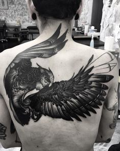 Nearly finished Julian's owl. Half healed. Wolf and snake to come. I LOVE back…