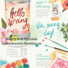 SCENTSY MARCH 2018 WARMER & SCENT OF THE MONTH – HELLO SPRING SCENTSY WARMER & SPRING FORWARD FRAGRANCE | Scentsy® Buy Online | Scentsy Warmers and Scents | Incandescent.Scentsy.us