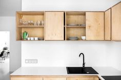 wooden-plywood-cabinets-simple-kitchen.jpg (1200×800)