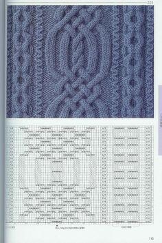 "Photo from album ""Жгуты, косы, шишечки, рельефы"" on Yandex.Disk - Örgü Modelleri ve Örgü Örnekleri Cable Knitting Patterns, Knitting Stiches, Knitting Charts, Knit Patterns, Free Knitting, Stitch Patterns, Knit Stitches, Vogue Knitting, Crochet For Beginners"
