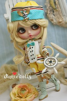 Photos, customs and fashion designs: Anniedollz. Little sailor.