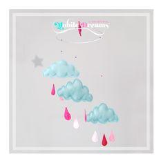 Okyanus serinliğinde, dünya tatlısı bir mobil. Miniklerin odasına dans eden deniz köpüğü bulutlardan süzülen kiraz çiçeği yağmur damlalarını getirdik!