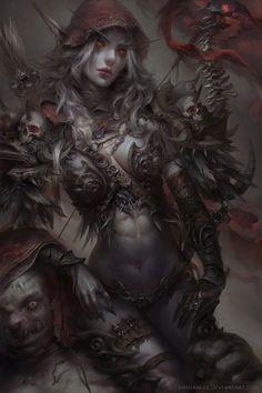 Sylvanas Windrunner (Dark Elf Ranger Girl) by Enshanlee.deviantart.com on @DeviantArt