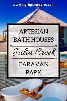 Julia Creek Artesian Bath Houses Caravan Park Qld - pinupi love to share Electric Bbq, Australian Road Trip, Australia Travel, Caravan, Park, Victoria Australia, South Australia, Australia Holidays, Queensland Australia