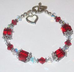 Swarovski Crystal & Sterling Silver Bracelet by KathiesCrystal, $50.00