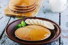 Dinner Recipes For Kids Banana Smoothie Pancakes Delicious Dinner Recipes, Dinner Recipes For Kids, Kids Meals, Yummy Food, Breakfast Pancakes, Smoothie, Bread, Healthy Fast Food, Food For Children
