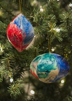 These DIY ornaments are perfect to make with kids and would make great gifts!