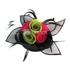 fascinador de colores con plumas weddding / fiesta / luna de miel de flores tocado