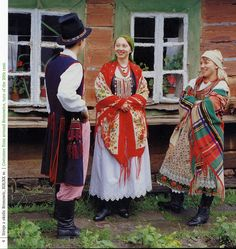 I personally am not fond of this, but it is undeniably very popular in Polish costume. This girl is from Bronowice.