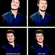 Lol watched this interview. So funny.  Divergent/Insurgent/Allegiant