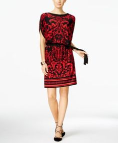7ffcbffa1 INC International Concepts Printed Blouson Shift Dress, Only at Macy's &  Reviews - Dresses - Women - Macy's