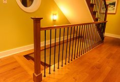 Réalisation Boiseries Métropolitaines Cribs, Stairs, Bed, Furniture, Home Decor, Banisters, Woodwork, Floor, Cots