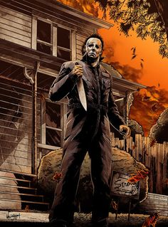"Horror Movie Art : Halloween 1978 ""Michael Myers"" by JP Valderrama Halloween Film, Halloween Horror, Halloween 2018, Halloween Poster, Horror Icons, Horror Movie Posters, Movie Poster Art, Gif Terror, Horror Artwork"