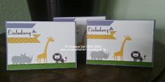 Einladungskarten mit Zoo Babies, Stampin'Up!