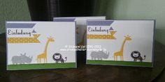 Einladungskarten mit Zoo Babies, StampinUp!