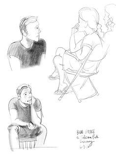 Sketches 2 of 4 of @BenHatke at @takoma