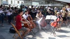 """NEW amazing FLASHMOB: """"Tchaikovsky's 1812"""" played by young musicians, Published on Sep 4, 2016. Flash Mob performed by Banda Simfònica d'Algemesí on September 3rd 2016 at Algemesí city (Spain), playing Tchaikovsky's """"1812 Overture"""". Director/ Conductor: Alberto Ferrer i Martínez"""