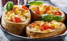 Pommes de terre farcies à la tomate et au fromage à raclette