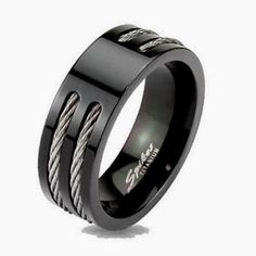 Black Titanium Mens Wedding Band Ring Size 10 99 Cent Daily Deal  Description:  Item Specifics  Size  This item is available in sizes 9,10,11,12 and 13. Half sizes are not available.  Metal Solid Titanium with Black IP plating  Stone N/A  Band ...