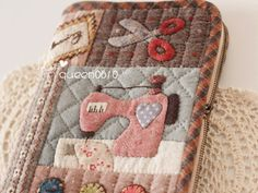Quilted sewing machine designs bag!