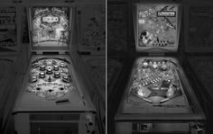 Black and White Pictures of Old Pinball Machines  The American photographer Michael Massaia loves to capture atmospheres moments of life like he did in black and white in Central Park a few years ago. Bis repetita with this photographic project titled Saudade in which he shot old pinball machines in analog. A very aesthetically pleasing return to the past that you can discover below.               #xemtvhay