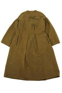 Antique linen ethnic oversize dress/French antique linen/brown over-dyed/traditional style/310