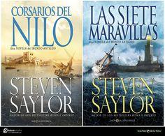 Mi cubierta para Corsarios del Nilo de Steven Saylor continuación de Las siete maravillas. Si la cubierta de Las siete maravillas estaba basada libremente en la obra de Rubens esta lo está en la obra del genial David Roberts. Edita La Esfera de los Libros