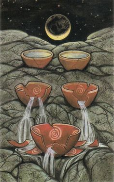 Vision Quest Tarot - 5 of Cups
