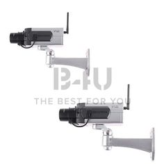 2 PCS Fake Dummy Surveillance Camera Infrared LED Blink With Motion Dectector