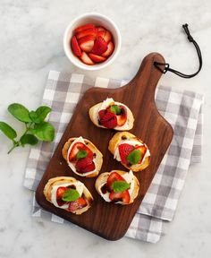 We think this Strawberry Balsamic Crostini recipe is perfect for a summer get-together! (via Love and Lemons) #BHGSummer