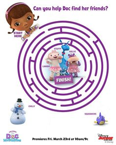 Doc McStuffins Circle Maze - Free Printable Coloring Pages
