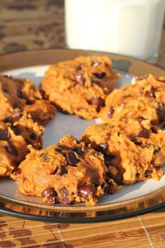 1 box spice cake, unprepared  1 can (15 oz.) pure pumpkin  1 bag (12 oz.) semi-sweet chocolate chips  Instructions    Preheat oven to 375 degrees  Mix together dry spice cake mix and pumpkin until completely blended.  Fold in chocolate chips.  Drop onto sprayed cookie sheet  Bake for 8-9 minutes