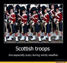 Scottish troops