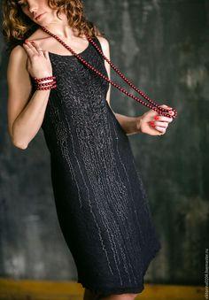 """Купить Платье """"Маленькое черное 5"""" - черный, абстрактный, платье черное, маленькое черное платье"""