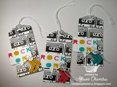 nice people STAMP!: An UNDEFINED Getaway - Inkin' Elite Spring Retreat 2014 - Make n Take #3: Cassette Tape Gift Tags by Allison Okamitsu