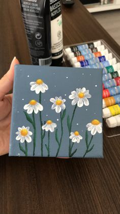Small Canvas Paintings, Easy Canvas Art, Small Canvas Art, Cute Paintings, Mini Canvas Art, Simple Paintings, Canvas Painting Tutorials, Diy Painting, Aesthetic Painting