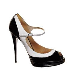 Patent leather, peep toe, spectator, mary jane stilletos?  AACK. . . love them!