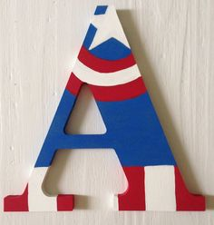Captain America Superhero Wooden Letter, Wall Decor