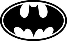 Batman Oval logo - comes in many sizes, colors and removable or permanent vinyl. http://www.vinyl-decals.com/batman_oval_logo-CC07.php