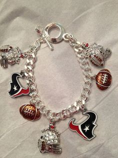 Houston Texans bracelet by Beckyschunkystuff on Etsy