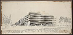 Architecture drawing from Paul Rudolph