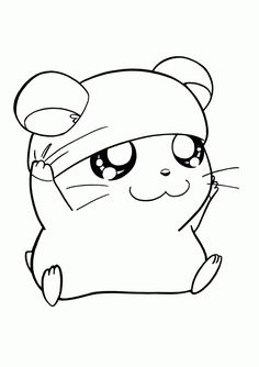 Birthday Coloring Pages, Cute Coloring Pages, Animal Coloring Pages, Coloring Pages To Print, Coloring Books, Free Coloring, Pet Anime, Anime Animals, Kawaii Anime
