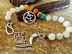 Yoga Bracelet Boho Hippie om elephant yogi by HonuHippie on Etsy