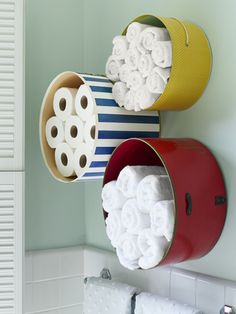 Love this storage idea for my teenaged son's bathroom!!!