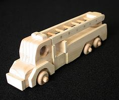 Small Wood Toy Fire Truck