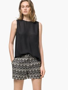 ETHNIC PRINT SHORTS - View all - Trousers - WOMEN - Singapore