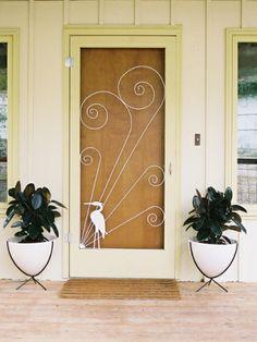 Vintage Style Screen Door Insert For The Home Exterior Pinterest Vint